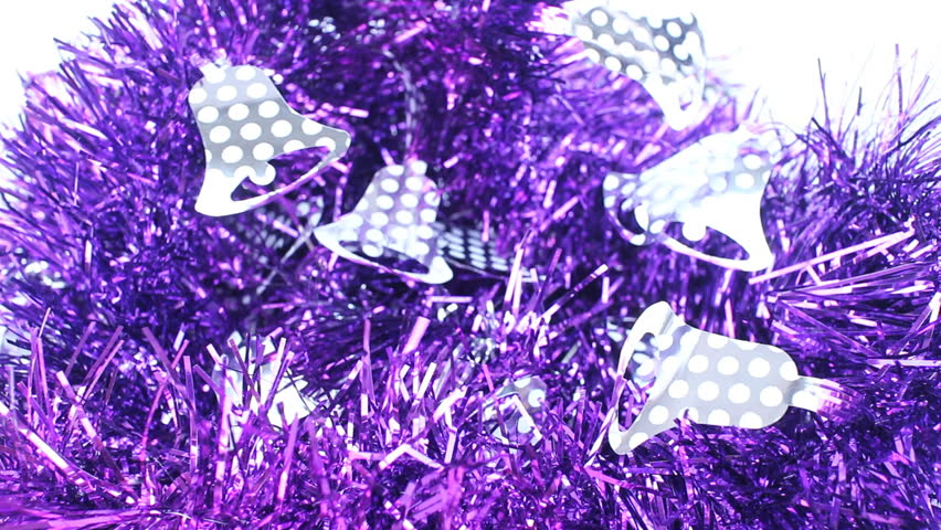 Beautiful violet decorated ribbon for celebration, stock video   Shutterstock HD Video #13606190