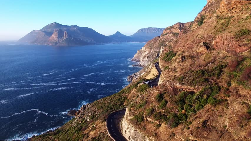 Cape Town Flying Over Chapman's Peak Drive and the Ocean - 4K Drone Footage | Shutterstock HD Video #13698584