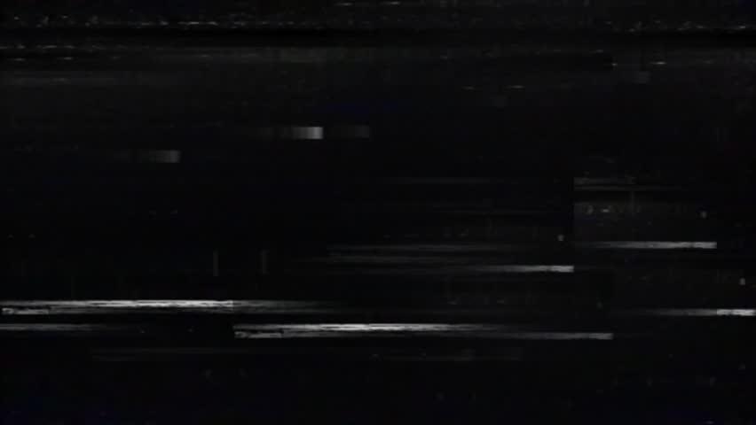 Old Old TV Glitch Disturbances on a Black Background