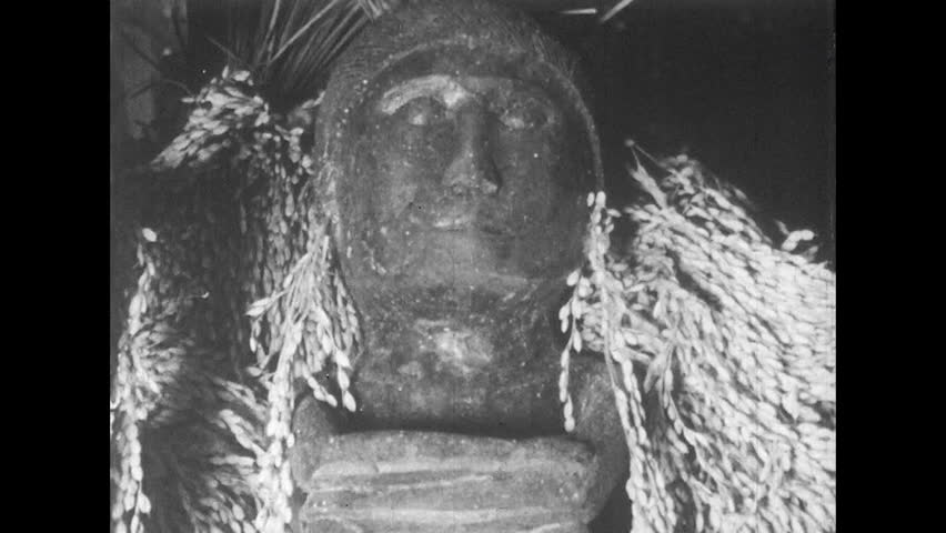 ASIA 1960s: Village Huts and Idols of the Ifugao Village