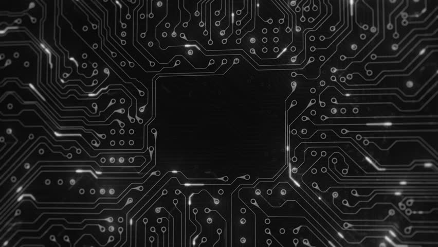 animated printed circuit board background  stock footage video 1355668