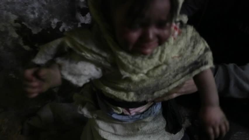 War. Beggar child. Refugees. | Shutterstock HD Video #13830200