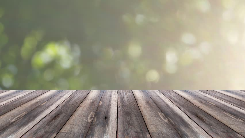 perspective wood and bokeh light background product