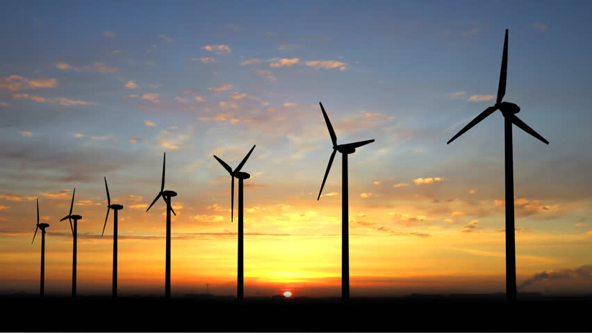 Wind generators with alpha channell - HD stock video clip