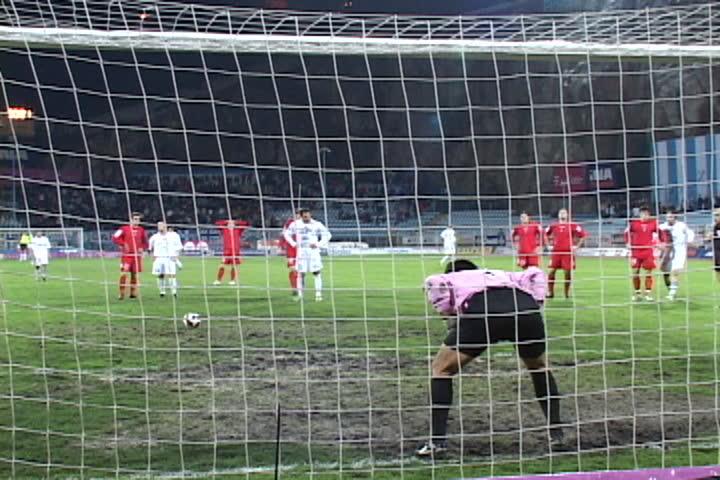 soccer or football match - penalty kick (First Croatian Football League)