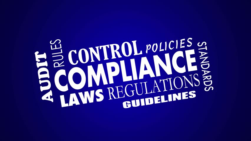 Compliance Rules Regulations Laws Animated Word Collage | Shutterstock HD Video #13928003