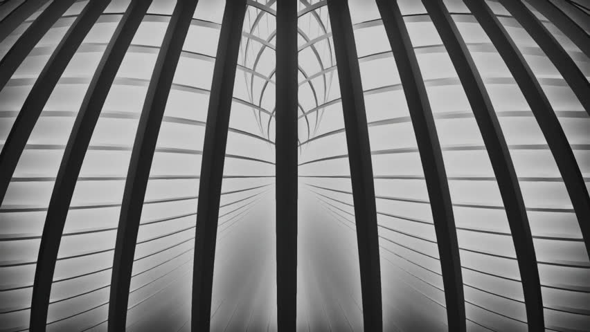 Dark 3d lines rotating on a light background. Grainy black and white look. Version 10 | Shutterstock HD Video #13941485