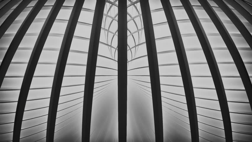 Dark 3d lines rotating on a light background. Grainy black and white look. Version 11 | Shutterstock HD Video #13941494