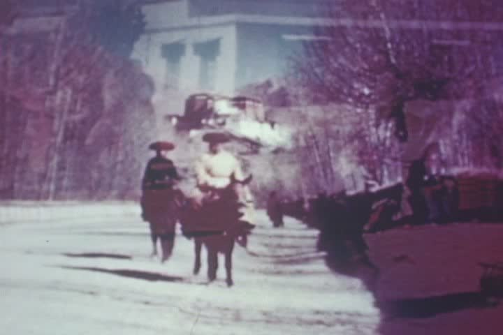 CIRCA 1940s - Architectural shots of the Potala and the Great Road in Tibet in the 1940s. - SD stock footage clip