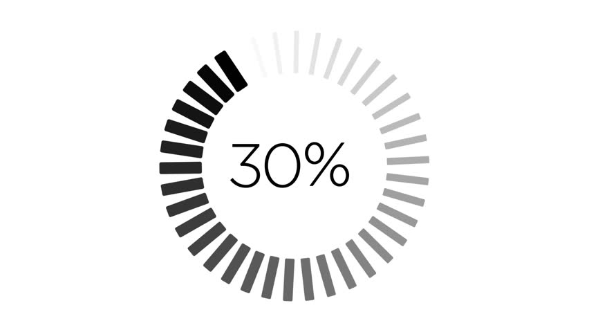 Loading Animation - 0-100% - Black