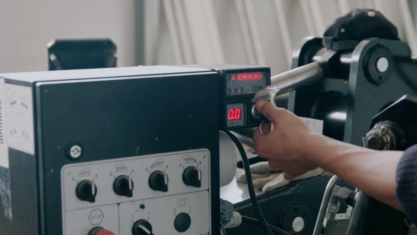Key lockfor stop start machine - HD stock video clip
