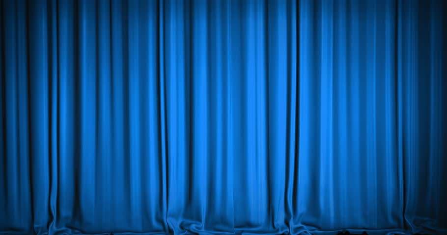 Blue Stage Curtains Background | www.imgkid.com - The ...