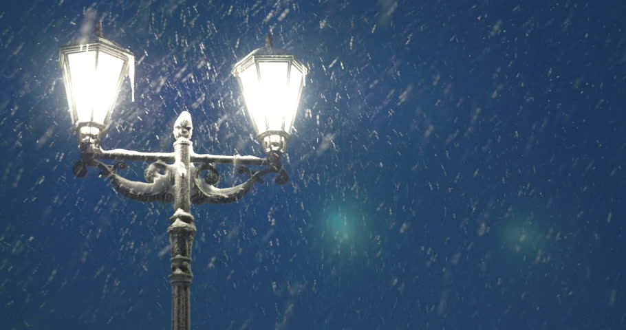 Image result for street lantern in the snow
