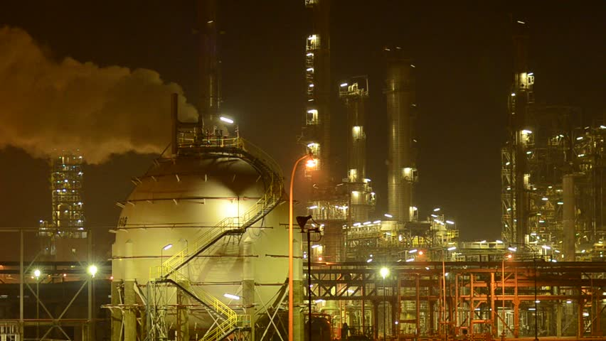 Blow waste gas at Refinery life Plant. - HD stock footage clip