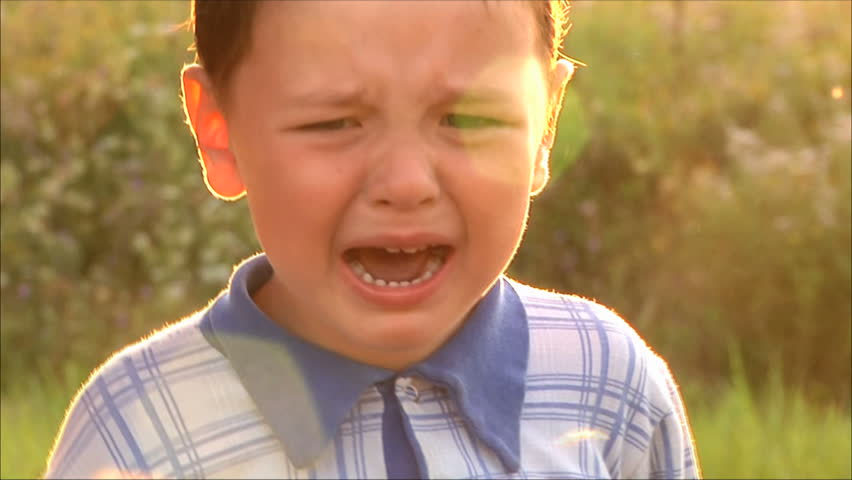 little boy crying - HD stock video clip