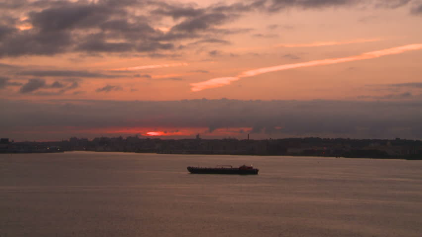 Dawn, New York harbor | Shutterstock HD Video #1503674