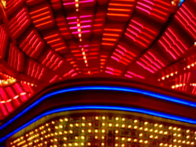 Glowing neon red casino sign