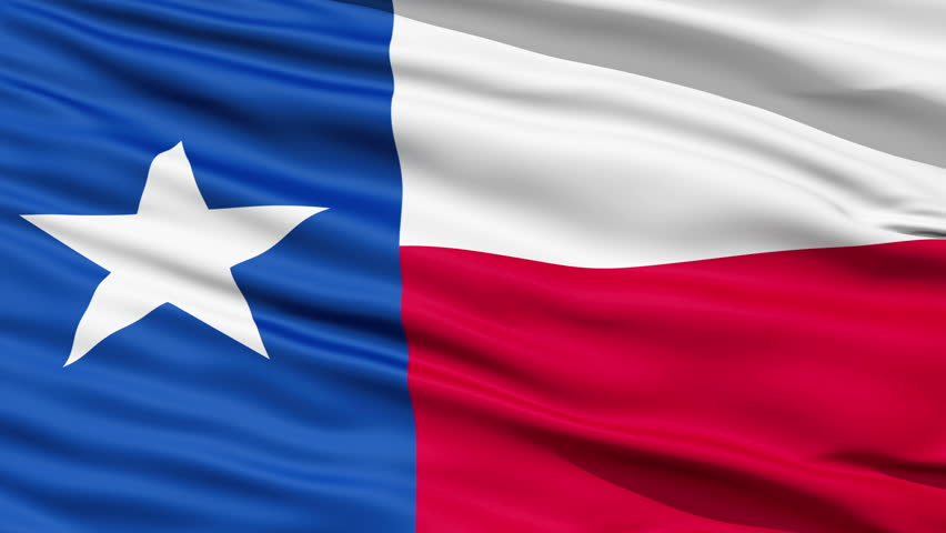 The official state waving Flag of Texas, called the Lone Star Flag,seamless looping - HD stock footage clip