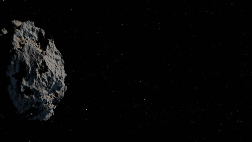 Huge Asteroid Heading To Earth. Stock Footage Video ...