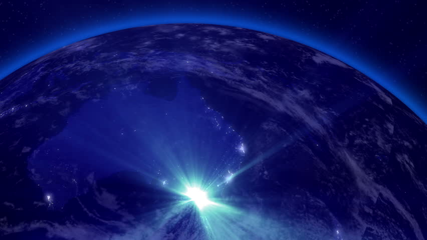 Earth from space lightstreaks over australia view from for 3d outer space map