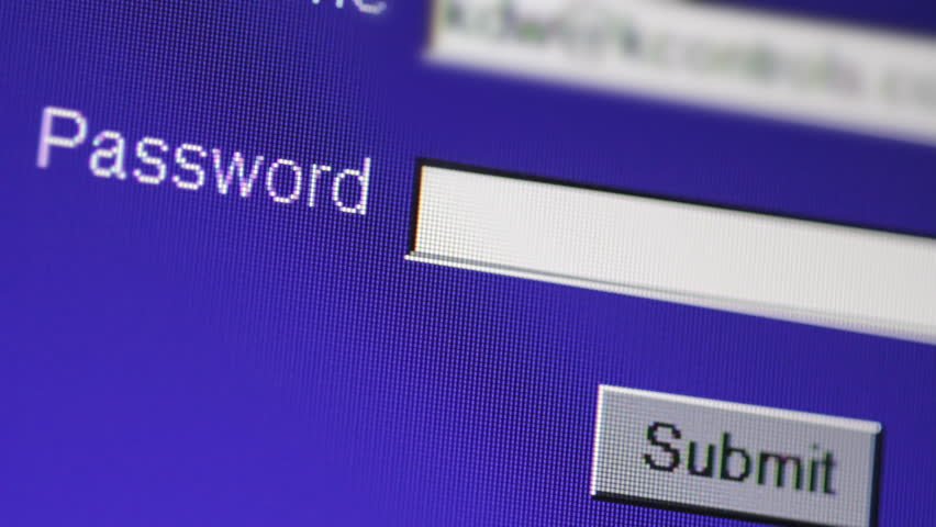Typing password on computer - HD stock video clip
