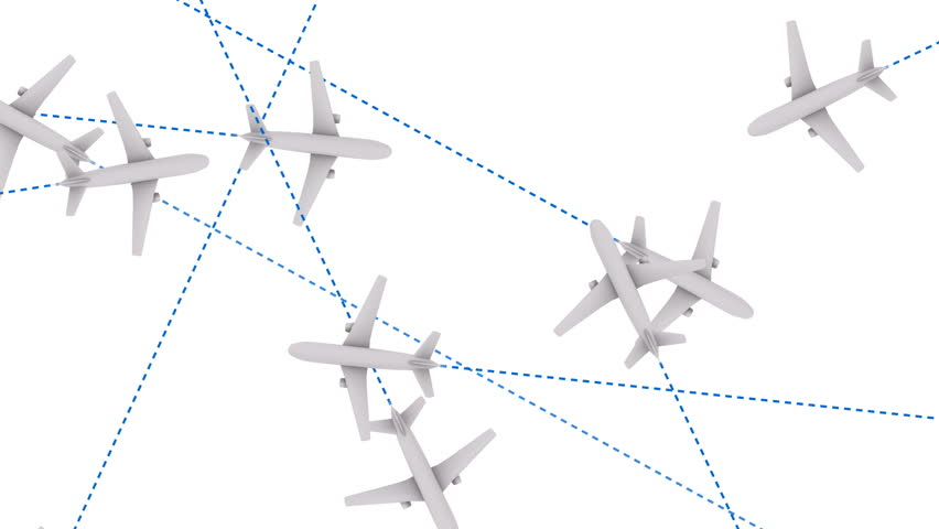 Jet Plane Air Travel Looping Animation - HD stock footage clip