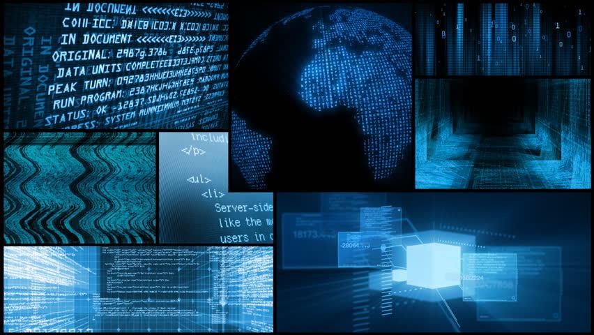 Digital Data Network Global Technology Montage