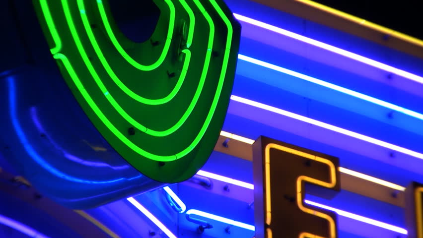 Abstract Neon Sign