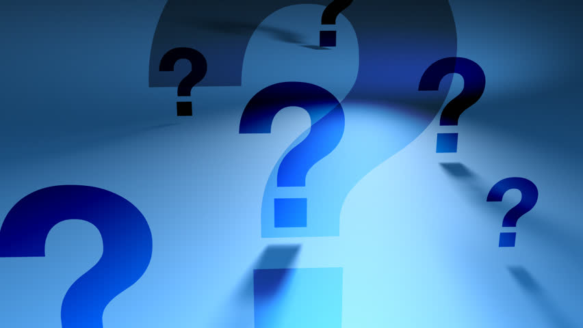Question Marks Black And White Looping Animated Background