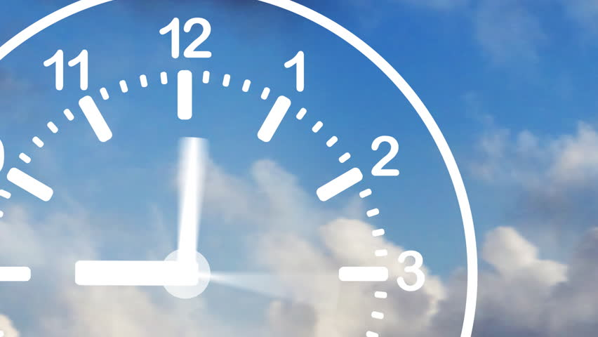 Time Flies Clock In Sky
