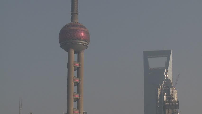 Huge Chinese Skyscrapers In Shanghai