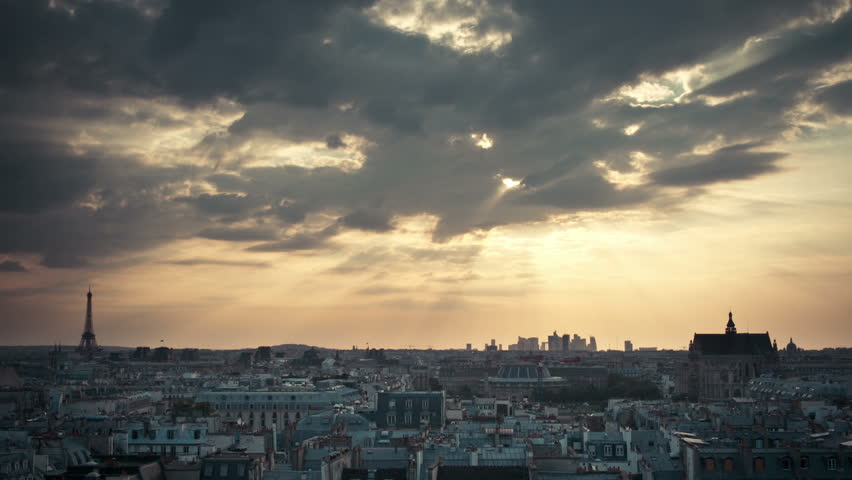 Timelapse over Paris Rooftops