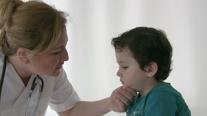 Pediatrician checking Little boy - HD stock video clip