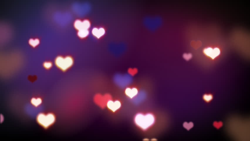 shining heart shapes loopable love background - HD stock footage clip