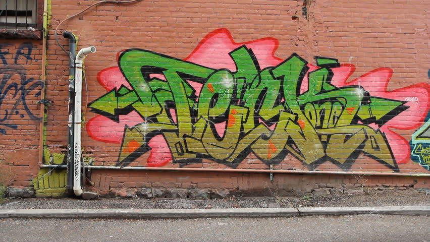 TORONTO, ONTARIO - DEC 15: Grafitti on walls on December 15th, 2011 in Toronto, Ontario, Canada. An anti-grafitti bylaw was first introduced in 2005 in the city of Toronto.