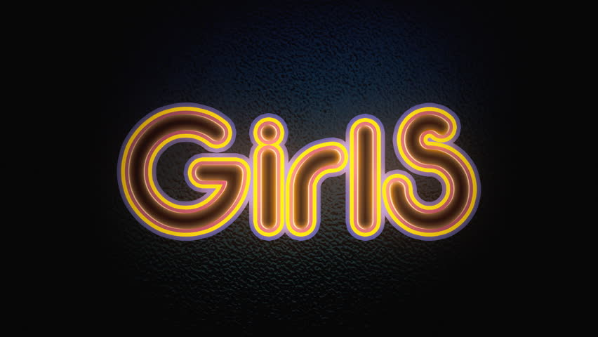 girls neon sign prostitution or peep show concept stock footage video 5593001 shutterstock. Black Bedroom Furniture Sets. Home Design Ideas