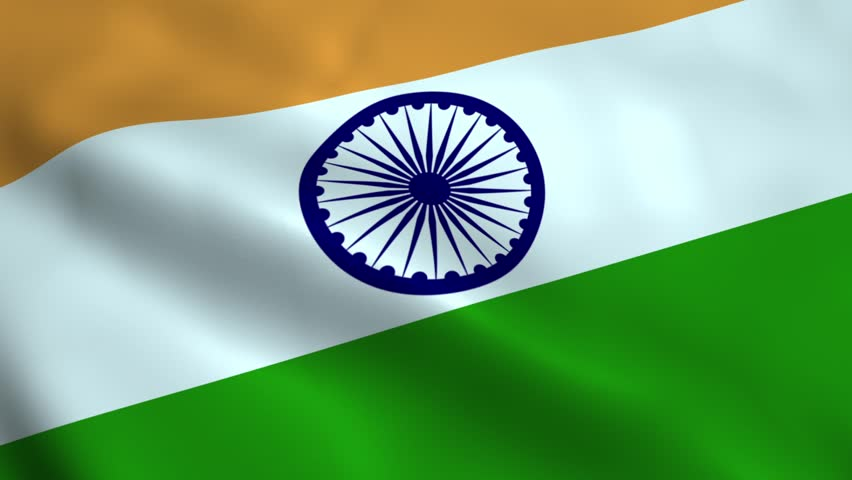 Indian Flag Animated: Indian Flag Waving In The Wind. Part Of A Series. 4K