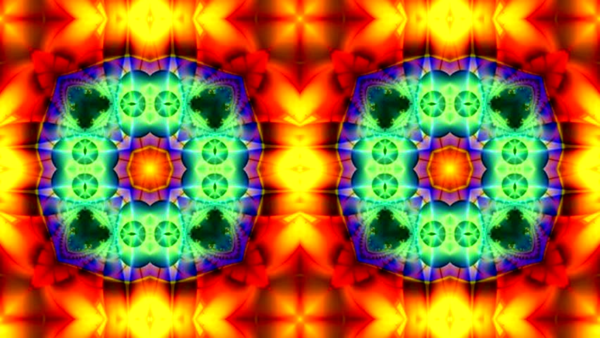 Abstract surreal loop motion background, variegated kaleidoscope | Shutterstock HD Video #18889208
