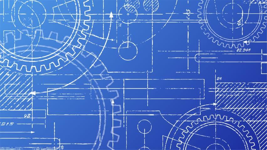 Car U0026 39 S Engine Plan Background  Blueprint Animation  Writing On Blueprint Background  Stock