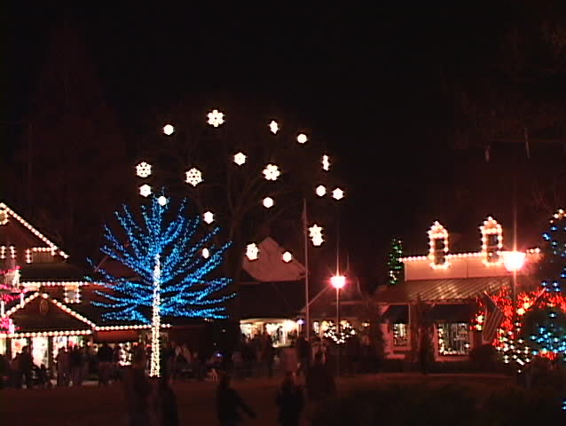 christmas village lights - SD stock video clip