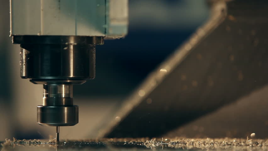 CNC milling machine - HD stock video clip