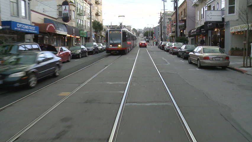 SAN FRANCISCO - CIRCA FEB 2011: (Timelapse View) POV Of ...