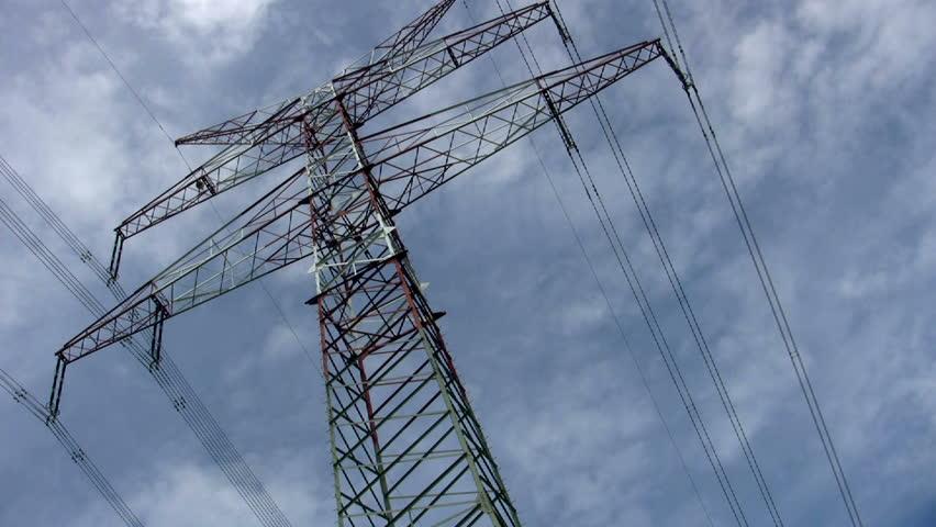 Electric Pole - HD stock footage clip