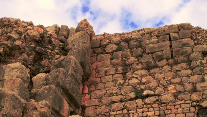 A Nimrod Fortress wall shot in Israel. | Shutterstock HD Video #2012750