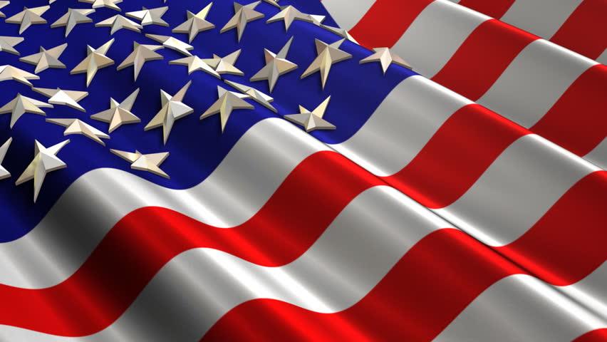 American Flag Waving (Loop)