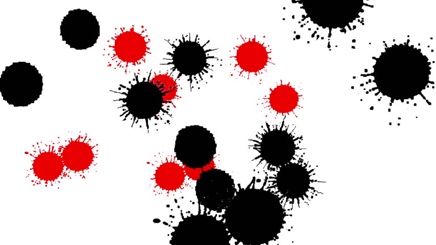 BLACK RED DRIPS | Shutterstock HD Video #2041559