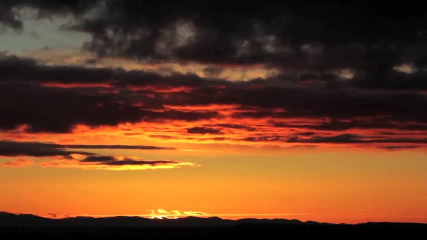 Montana sunset - HD stock footage clip