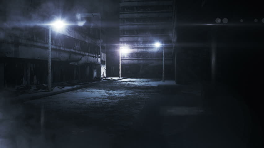 Scary Alley realistic 3D render