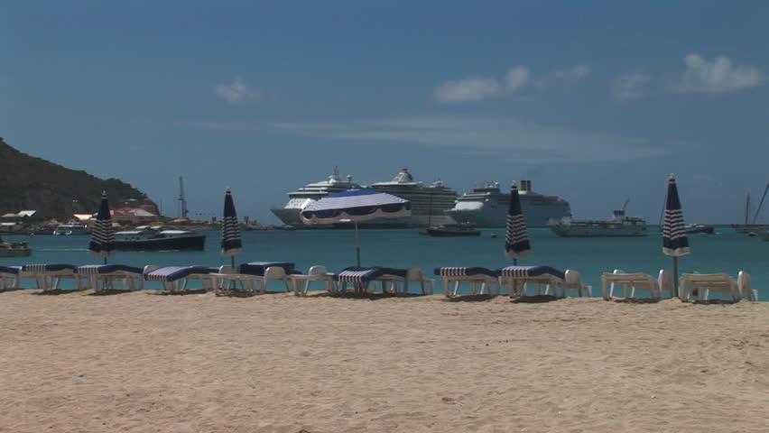 Ships in Port  - HD stock video clip
