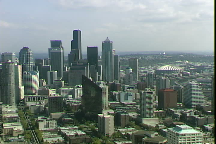 Seattle aerial zoom | Shutterstock HD Video #2066876
